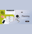 business strategy planning concept corporate time vector image