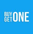 buy one get one sign drop shadow winter sale vector image vector image