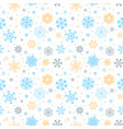 christmas seamless pattern with snowflakes on vector image