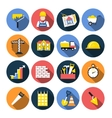 Construction icon flat design set with shadows vector image