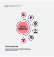 digital marketing concept for presentation vector image vector image