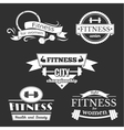 Fitness signs set vector image vector image