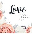 floral design card with rose flowers vector image vector image