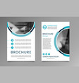 flyer brochure layout template a4 size vector image vector image