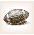 Football ball hand drawn sketch style vector image