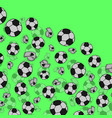football or soccer balls with motion trails in vector image vector image