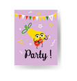 fruit holiday party banners set with different vector image