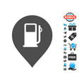 fuel station marker icon with free bonus vector image vector image