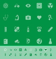 General hospital color icons on green background vector image