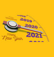 happy new year 2021 speedometer view vector image vector image