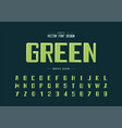 highlights font and bold alphabet typeface and vector image vector image