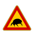 House dust mite warning sign vector image vector image