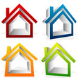 house home suburban residential building real vector image vector image