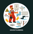 house service flat poster for kitchen or vector image vector image