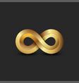 infinite logo 3d golden ratio geometric shape vector image