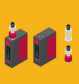 isometric icon of vape device vector image