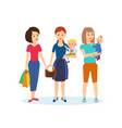 joint purchases in shopping center family visit vector image vector image