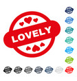 lovely stamp seal icon vector image vector image