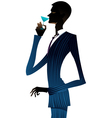 man with a martini vector image