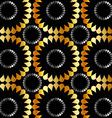 Metallic floral background vector image
