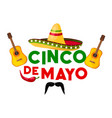 mexican cinco de mayo fiesta party greeting card vector image vector image