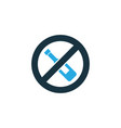 no alcohol colorful icon symbol premium quality vector image