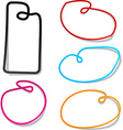 Noose notification paper frames vector image vector image
