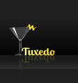 official cocktail icon the unforgettable tuxedo vector image vector image