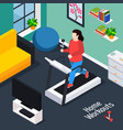 overweight isometric composition vector image
