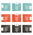 Paper Labels Infographics Layout vector image
