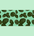 pattern green leaves rose watercolor vector image vector image