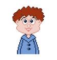 pixel boy vector image vector image