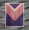 purple pink arrow style business brochure design
