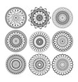 relax mandala set abstract ethnic model mandalas vector image vector image