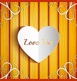 romantic greeting template vector image