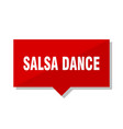 salsa dance red tag vector image vector image