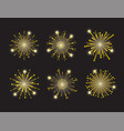 set firework night decoration to holiday vector image