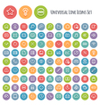 Set of Line Round Universal Icons vector image vector image