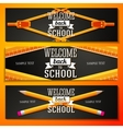 Set of school banners with place for your text and vector image vector image