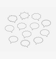 set talk bubbles speech blank empty bubble icon vector image vector image