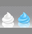 shaving gel and shaving foam icon set vector image