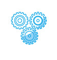 silhouette industry gears to process engineering vector image vector image