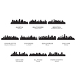 Silhouettes of the USA cities 1 vector image vector image