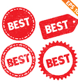 Stamp sticker Best tag collection - - EPS10 vector image vector image