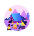 summer camp for kids abstract concept vector image vector image
