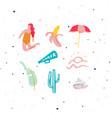 summer elements set vivid color vector image vector image
