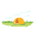 tourist tent on ground vector image vector image