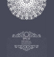 white mandala vintage decorative elements vector image vector image