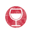 Wine icon with pixel print halftone dots texture vector image vector image