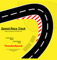 yellow road background vector image vector image